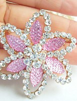 Women Accessories Gold-tone Rhinestone Crystal Flower Brooch Art Deco Brooch Bouquet Women Jewelry
