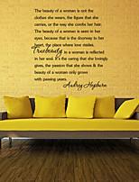 adesivi murali muro decalcomanie stile le bellezza parole inglesi&cita adesivi murali in pvc