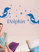 Wall Stickers Wall Decals Style Dolphin English Words PVC Wall Stickers