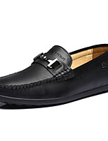 Men's Shoes Office & Career / Party & Evening / Casual Leather Loafers Black / Brown / Khaki
