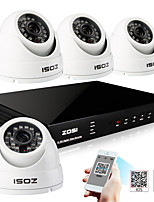 ZOSI® 4 Channel H.264 HDMI Realtime 960H DVR 800TVL Day Night Outdoor Dome CCTV Camera Security System