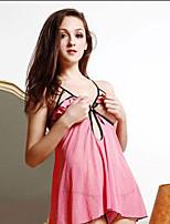 Sexy Lingerie Hot Babydoll Lady's Sleepwear Dresses Sheer Underwear Open Bra Ruffle String Cross G-string 6280