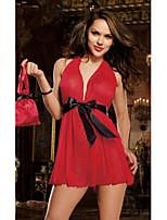 Vêtement de nuit FemmeNuisette & Culottes/Jarretelles & Bretelles/Bustiers Correspondants/Satin & Soie/Ultra Sexy/Uniformes & Tenues