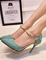 Women's Shoes Stiletto Heel Pointed Toe Pumps/Heels Dress Black/Green/Gray