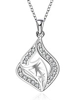 Cremation Jewelry 925 sterling silver Hollow Geometry Pave Zircon Pendant Necklace for Women