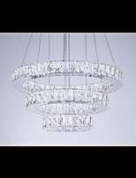 Modern LED Chandelier Lights Lighting Cool White Three Rings D305070 K9 Large Crystal Hotel Ceiling Light Fixtures