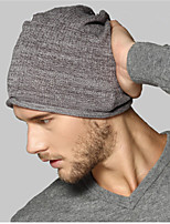 Kenmont Autumn Winter Men Male 100% Cotton Fashion Cloche Hat Knitted Cap 1594