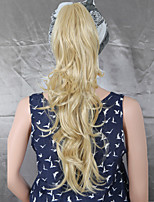 Claw Clip Synthetic 22 Inch Blonde Long Curly Ponytail