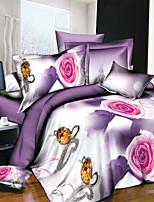 3D Pattern Design Printed  Bedding Sets 4pcs Comforter Sets Queen Size Duvet Cover Bed Sheet