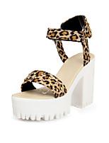 Women's Shoes Chunky Heel Slingback Sandals Dress Black/Pink/Beige/Animal Print