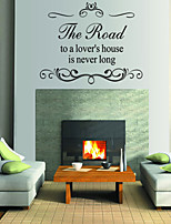Wall Stickers Wall Decals Style The Road English Words & Quotes PVC Wall Stickers