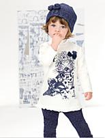 Girl's Summer Micro-elastic Medium Short Sleeve Clothing Sets (Cotton Blends)