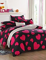 Red heart Bedding Set of 4pcs Queen/Twin