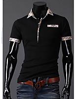 Katoenmix - Effen - Heren - T-shirt - Informeel/Sport - Korte mouw