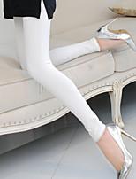 Women Cotton Medium Solid Color Legging