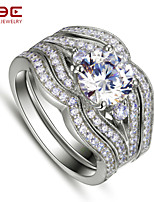 NBE Sterling Silver/Zircon Ring Midi Rings/Band Rings/Statement Rings Wedding/Party/Daily/Casual/Sports 1pc
