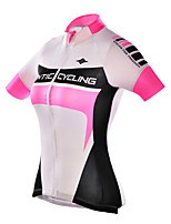 Santic Women's Cycling Jersey 100% Polyester Fiber Short Sleeve Breathable+Quick-Drying