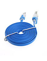 2m flat noodle micro usb lader sync-kabel