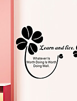 Wall Stickers Wall Decals Style Learn And Live English Words & Quotes PVC Wall Stickers