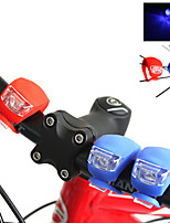 2-LED Silicone Bike Bicycle Cycling Head Front Rear Wheel LED Flash Light Lamp Set