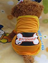 Holdhoney Orange The dog A Bone Nylon T-Shirt For Pets Dogs (Assorted Sizes) #LT15050014