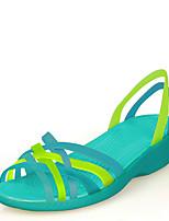 Chaussures Femme - Habillé / Décontracté - Bleu - Talon Compensé - Compensées / Bout Ouvert / Gladiateur - Sandales - Gomme