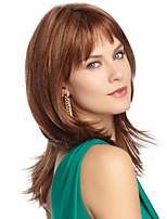 The European And American Fashion Brown Long Straight Hair Wigs
