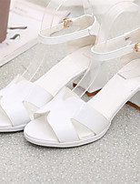 Women's Shoes Chunky Heel Open Toe Sandals Dress Pink/White/Gray