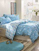 Light Blue Tree Bedding Set of 4pcs Queen/Twin Set