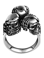 Ring Jewelry Steel Skull / Skeleton Silver Jewelry Halloween Daily Casual 1pc