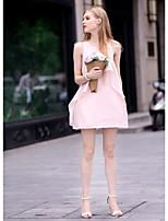 Women's Sexy Casual Cute Plus Sizes Sleeveless Midi Maternity Dress (Chiffon/Mesh)
