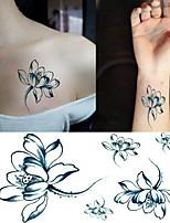 Elegant  Lotus Tattoo Stickers Temporary Tattoos(1 Pc)