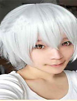 The New Cartoon Color Wig  Wjite Face  Short Straight Hair Wigs