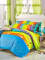Multi Color Polyester King Duvet Cover Sets