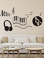 Wall Stickers Wall Decals Style Music English Words & Quotes PVC Wall Stickers