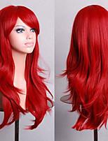 70 cm Long Curly Red Hair Air Volume High Temperature Silk Wig
