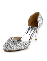 Women's Shoes Stiletto Heel Pointed Toe Pumps/Heels Party & Evening Red/Silver/Gold