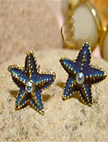Blue Starfish Ear Stud(Blue)(1Pr)