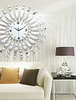 Relógio de parede - Moderno/Contemporâneo - Redonda/Inovador - DE Vido/Metal