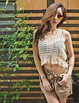 Women's Sexy Casual Micro-elastic Sleeveless Short Blouse (Cotton Knitwear)