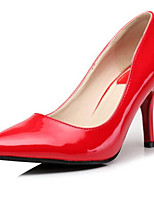 Women's Shoes Patent Leather Stiletto Heel Heels/Platform/Pointed Toe/Closed Toe Pumps/Heels Casual Black/Pink/Red/Beige