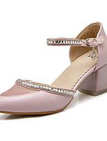 DONNE - Scarpe col tacco - A punta - Quadrato Finta pelle - Blu/Rosa/Bianco