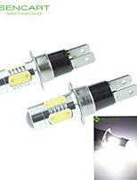 H3C GX10D 10W 900Lm 5 x COB LED Cold White Light Polarity Free Car Foglight / Headlamp / Tail Light (12-24V)