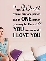 Wall Stickers Wall Decals Style But To One Person You English Words & Quotes PVC Wall Stickers