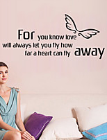 Wall Stickers Wall Decals Style Fly English Words & Quotes PVC Wall Stickers