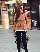 Women's Vintage Sexy Casual Work Micro Elastic Long Sleeve Long T-shirt   Others