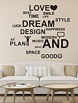 Wall Stickers Wall Decals Style Love Smile English Words & Quotes PVC Wall Stickers
