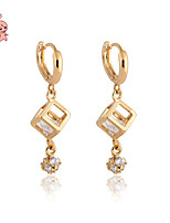 KuNiu Women's High Quality 18K Gold Plated Cubic Earrings ER0126