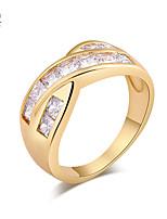 KuNiu Women's High Quality Classic 18K Gold Plated Rings J0338