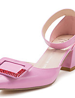 Women's Shoes Chunky Heel Pointed Toe Pumps/Heels Dress Pink/White